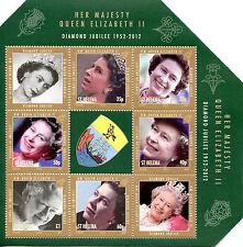 St Helena 2012 MNH Diamond Jubilee Queen Elizabeth II 6v M/S Royalty Stamps