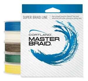 Cortland Master Braid 250 Yard Spool - 179646  test:80lb.   color: Blue