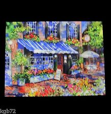Leanin Tree Cafe Bistro Courtyard Blank Greeting Card Multi Color R316