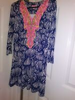 Lilly Pulitzer Bordeaux Tunic Dress House Of Nemo  Engineered New Xs Nwt