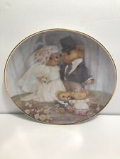 Franklin Mint Just Married by Patrica Brooks Plate Teddy Bear Limited Edition