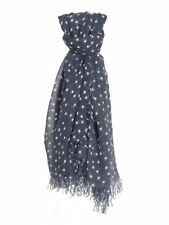 Chan Luu Total Eclipse Navy Blue White STARS Soft Cashmere Silk Scarf Wrap RARE!