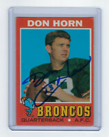 1971 PACKERS Don Horn signed card Topps #59 AUTO Autographed Denver Broncos
