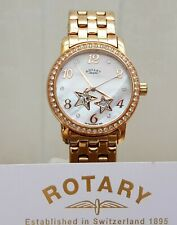 NEW ROTARY Ladies Automatic Skeleton Watch Rose Gold plated Boxed RRP£180