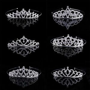 Wedding Bridal Princess Crystal Rhinestone Prom Hair Tiara Crown Headband E