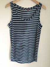 Blue Ombré Cream Stripe Vest Top Size Large Esprit Brand New Bnwt