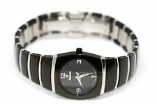 WOMENS NIVADA ROUND CERAMIC STAINLESS STEEL SWISS WATCH W NUMBERS