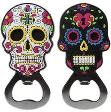 Mens Ladies Halloween Day of the Dead Sugar Skull Bottle Opener Kitchen Decor