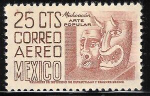 pa016a Mexico Arquite MNH paper 1; Sc#C189 Mc#982 Et#aa016a 36.5mm brown-carmine