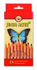 KOH-I-NOOR Jumbo Natur MATITE COLORATE-confezione da 18 MATITE COLORI ASSORTITI