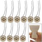 10pcs GU10 Ceramic Socket Holder Lamp Wire Connector Base
