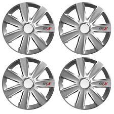 "4 x GTX Wheel Trims Hub Caps 14"" Covers fits Toyota Avensis Aygo Yaris"