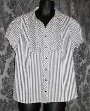 Millers Polyester Career Button Down Shirt Tops & Blouses for Women