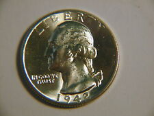 1942-D  Washington GEM  BU beautiful luster white nice coin! From roll