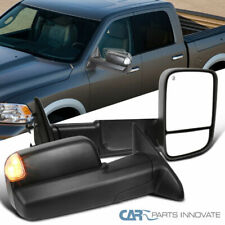 For 09-12 Ram 1500 Power Heated Auto Folding Tow Mirrors+LED Puddle & Signal