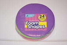 New 24 Circle Circular Color Craft Foam Sheets Kids Art School Teacher Help Bcr!