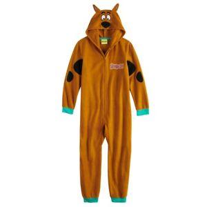 SCOOBY DOO Boys M 8 Pajamas Hooded One PIece Union Suit Blanket Sleeper Costume