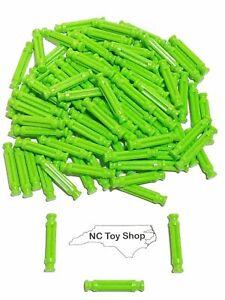"100 K'NEX Rare Green Rods 1-5/16"" (White Size) Standard Replacement Parts KNEX"