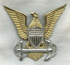 Rare 1920's - Early 1930's Uscg Officer Hat Badge by Vanguard-Nyc in Sterling