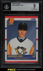 1990 Score Hockey Jaromir Jagr ROOKIE RC #428 BGS 9 MINT
