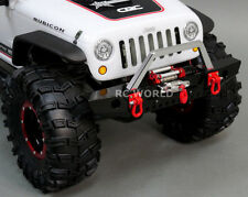 Axial SCX10 RC Truck FRONT BULL NOSE METAL BUMPER w/ WINCH  + LED Lights