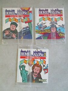LOT OF 3 SEALED VTG HARDEE'S HOME ALONE 2 FUNMEAL PACK MOVIE PROMO SETS