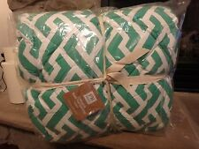 POTTERY BARN TEEN PB LINKS A LOT GREEN AND WHITE COMFORTER NEW XL TWIN