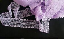2 metros de cinta de encaje lila Trim para Artesanía/costura/Scrapbook/Boda 45mm