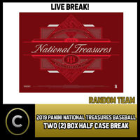 2019 PANINI NATIONAL TREASURES 2 BOX (HALF CASE) BREAK #A880 -  RANDOM TEAMS