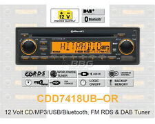 12 volts Bluetooth voiture auto radio rds & DAB tuner cd mp3 wma usb 12v cdd7418ub-or