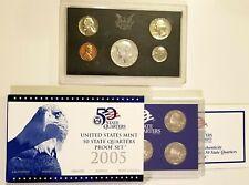 1-1968 US Mint Proof Set 40% Silver & 1-2005 US Proof Quarter Set