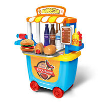 Kids BBQ Grill Pretend Play Toy Kitchen Barbecue Food Cooking Set Cook Tool