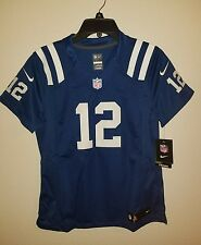 New Womens Nike On Field Indianapolis Colts Andrew Luck #12 Sewn Blue MSRP $145