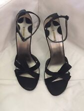 MAX STUDIO BLACK Satin EUC Shoes Women's 10 M Ankle