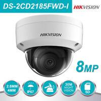 Hikvision IP Camera Onvif DS-2CD2185FWD-I 8MP Dome H.265+ IP67 2.8/4mm Lens