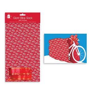 Giftmaker Christmas Giant Bike Sack4 Bow Gift Bag Large Present Wrap 72x40x10cm