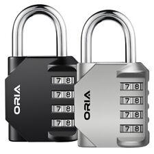 2pc Combination Padlock 4-Digit Security School Gym Toolbox Door Travel Lock