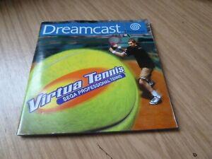 Sega Dreamcast - Original Manual -- Virtua Tennis