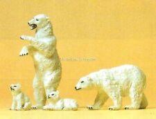 H0 Preiser 20384 Eisbären. Tierfiguren. OVP