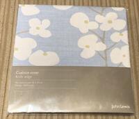 John Lewis - Cushion Cover - Wallflower Light Blue - 45 X45cm - New X4 Pack