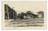 RPPC NCRR Railroad Station Depot CANTON PA Bradford County Real Photo Postcard