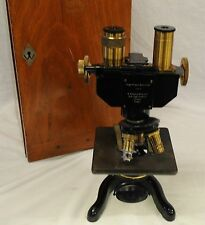 W. Watson & Son British Microscope - High Power Binocular Microscope