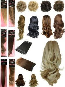 Fashion Hair Extensions Clip In Ponytails Weaves Straight Curly Wavy New