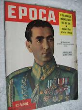 EPOCA 1958 Scià di Persia - morte di NUVOLARI