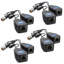 4 Pairs CCTV Coax BNC Video Power Balun Transceiver to CAT5e 6 RJ45 Connector