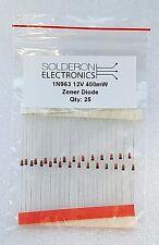 25pcs 1N963 12V 400mW Zener Diode DO-35