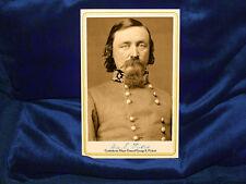 GEORGE PICKETT Confederate General Cabinet Card Photo Autograph Civil War RP