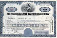 New listing The Pennsylvania Salt Manufacturing Company Stock Certificate 1950