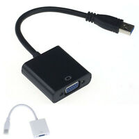 1PC USB3.0/2.0 to VGA Video Display Hi-speed External Cable Adapter for Win 7 8