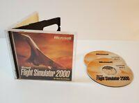 Microsoft Flight Simulator 2000 PC CD-Rom Windows 1999 2-Disc Set